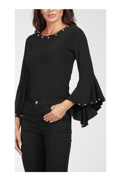 Frank Lyman Ruffled Sleeve Top - Alternate List Image