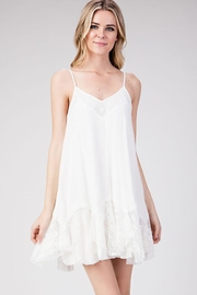 American Chic Ruffled Sleeveless Flare-Dress - Product Mini Image