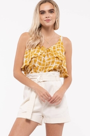 Mine Ruffled Sleeveless Top - Front cropped