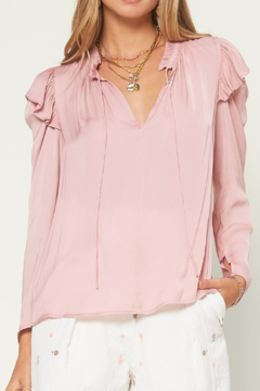 Current Air  Ruffled Tie Blouse - Product List Image