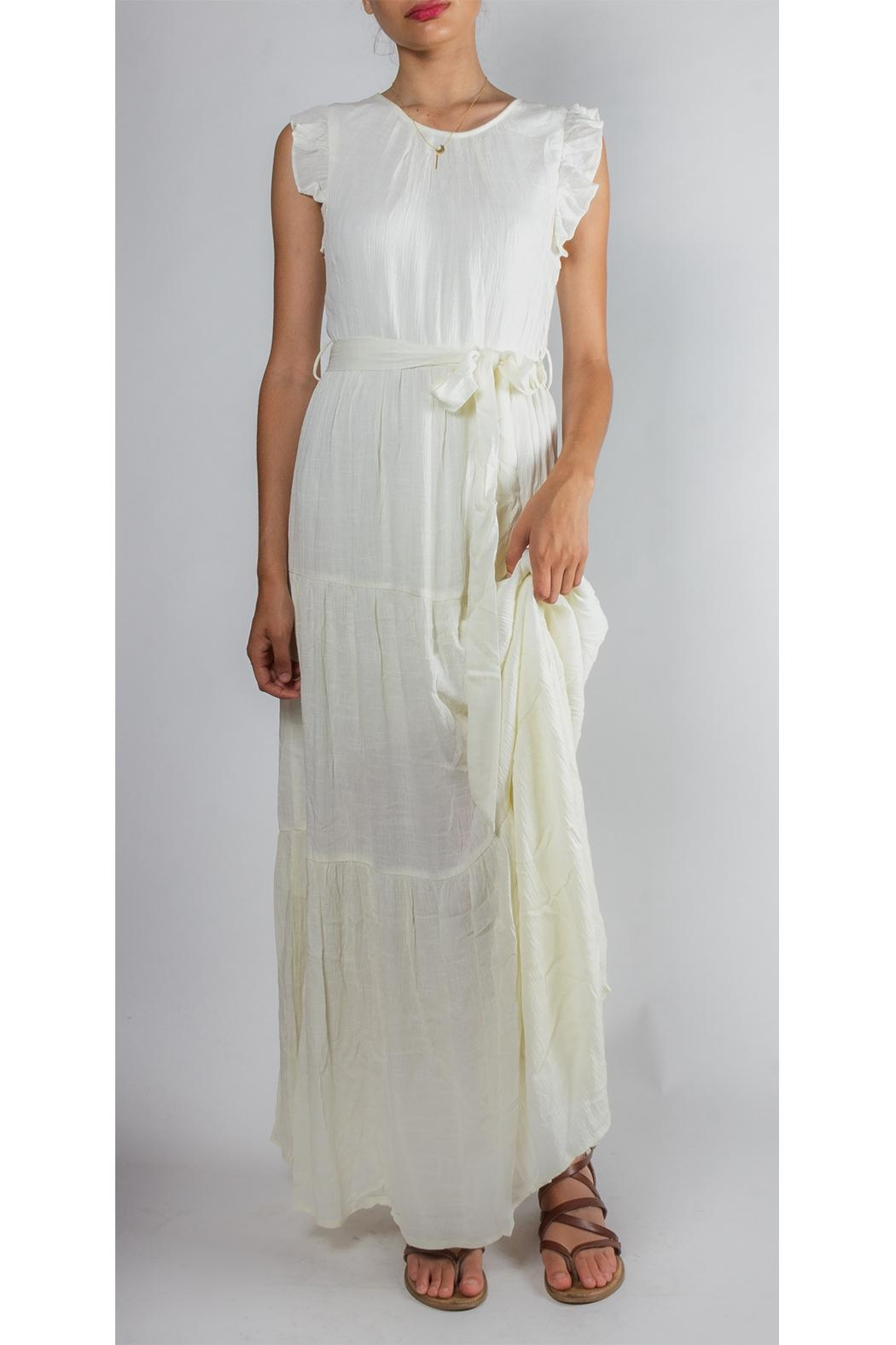 Gilli Ruffled Tie-Waist Maxi-Dress - Front Cropped Image