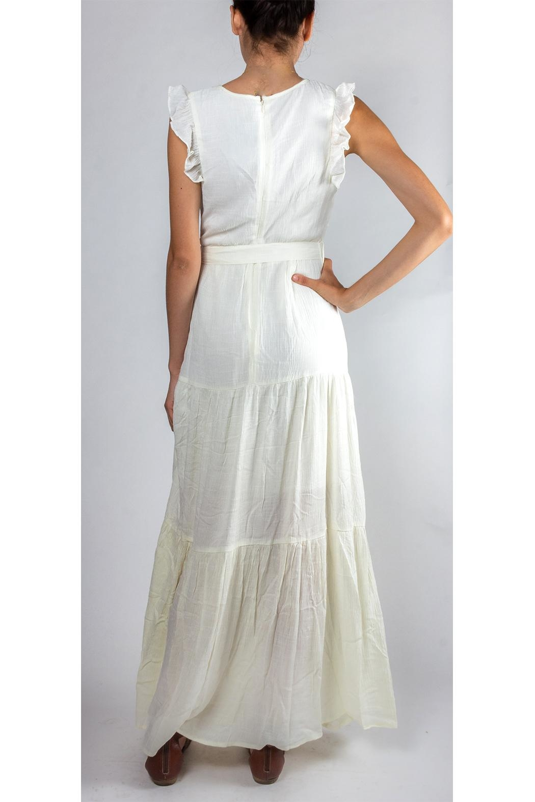 Gilli Ruffled Tie-Waist Maxi-Dress - Back Cropped Image