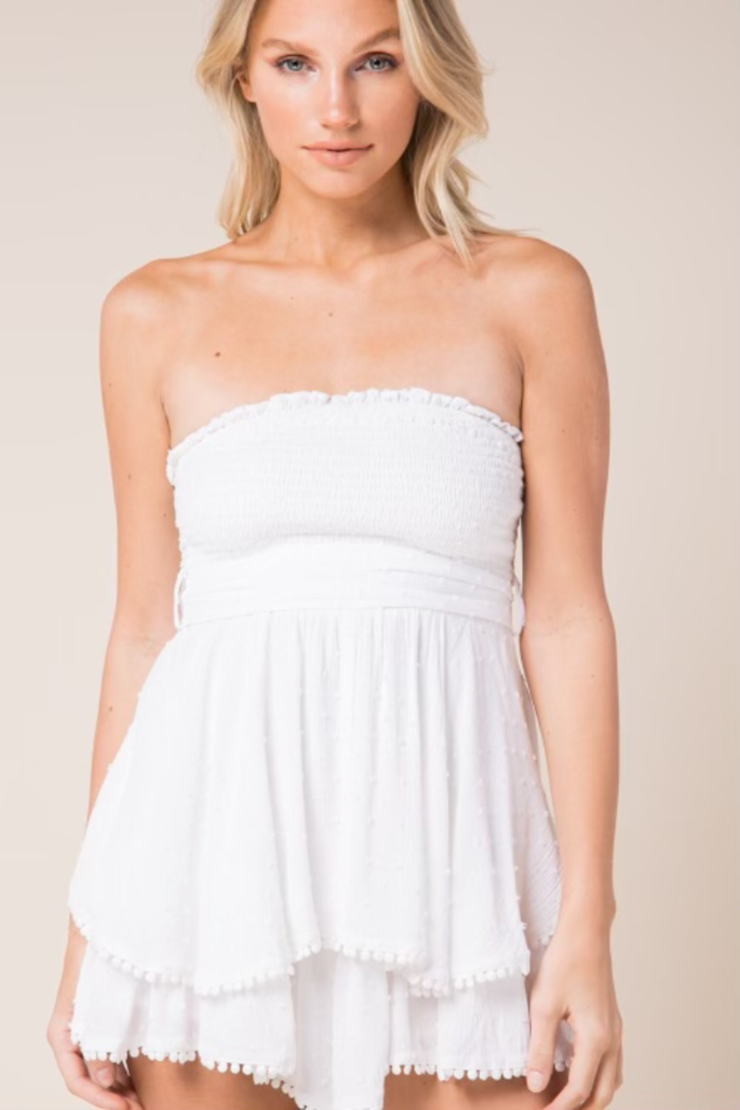 Skylar & Madison Ruffled Tier Romper - Front Cropped Image