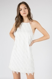 FANCO Ruffled White Dress - Product Mini Image