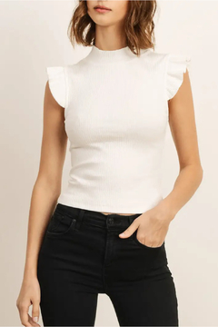 storia Ruffles Ivory Top - Product List Image