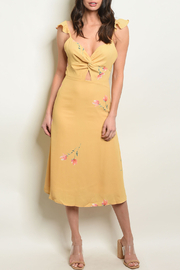 4SI3NNA Ruffles Mustard Dress - Product Mini Image