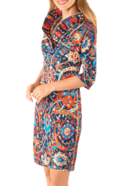 Gretchen Scott Ruffneck Dress - Magic Carpet - Product Mini Image