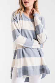 z supply Rugby Stripe Weekender - Front full body