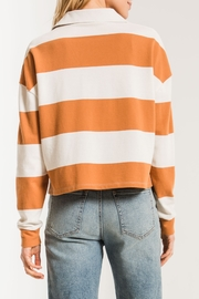 z supply Rugby Striped Collared Shirt - Front full body