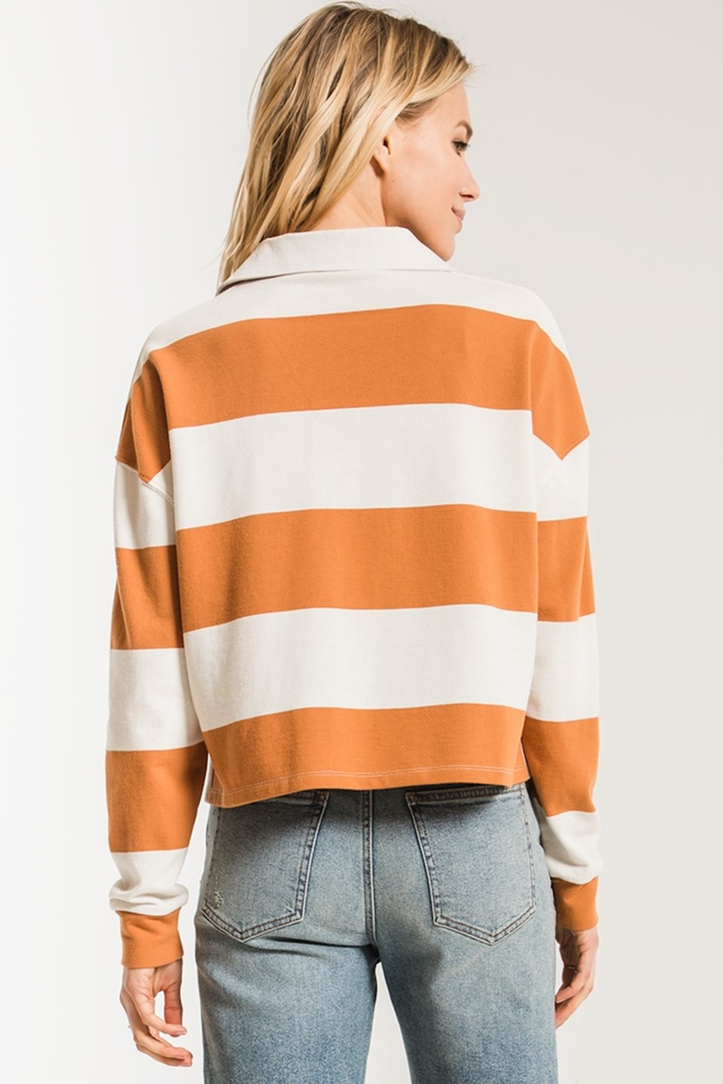 z supply Rugby Striped Collared Shirt - Side Cropped Image