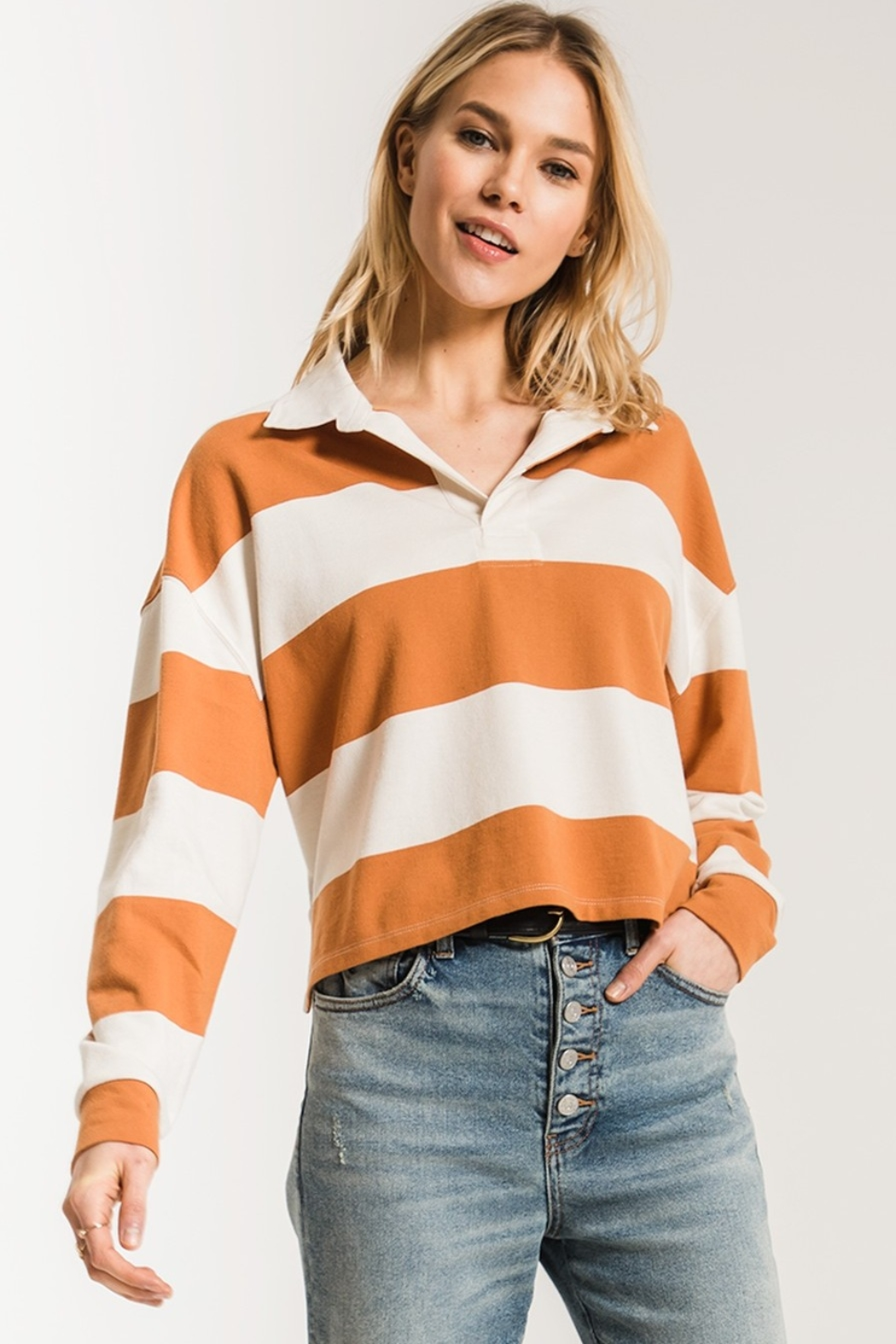 z supply Rugby Striped Collared Shirt - Main Image