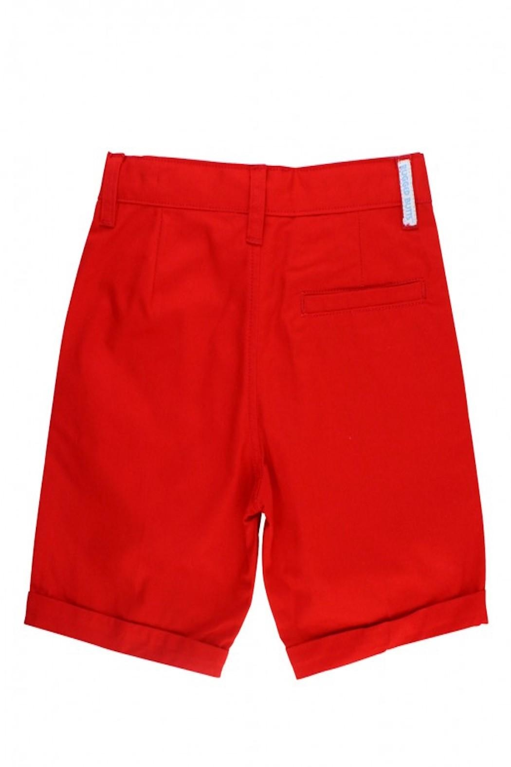 RuggedButts Red Chino Shorts - Side Cropped Image