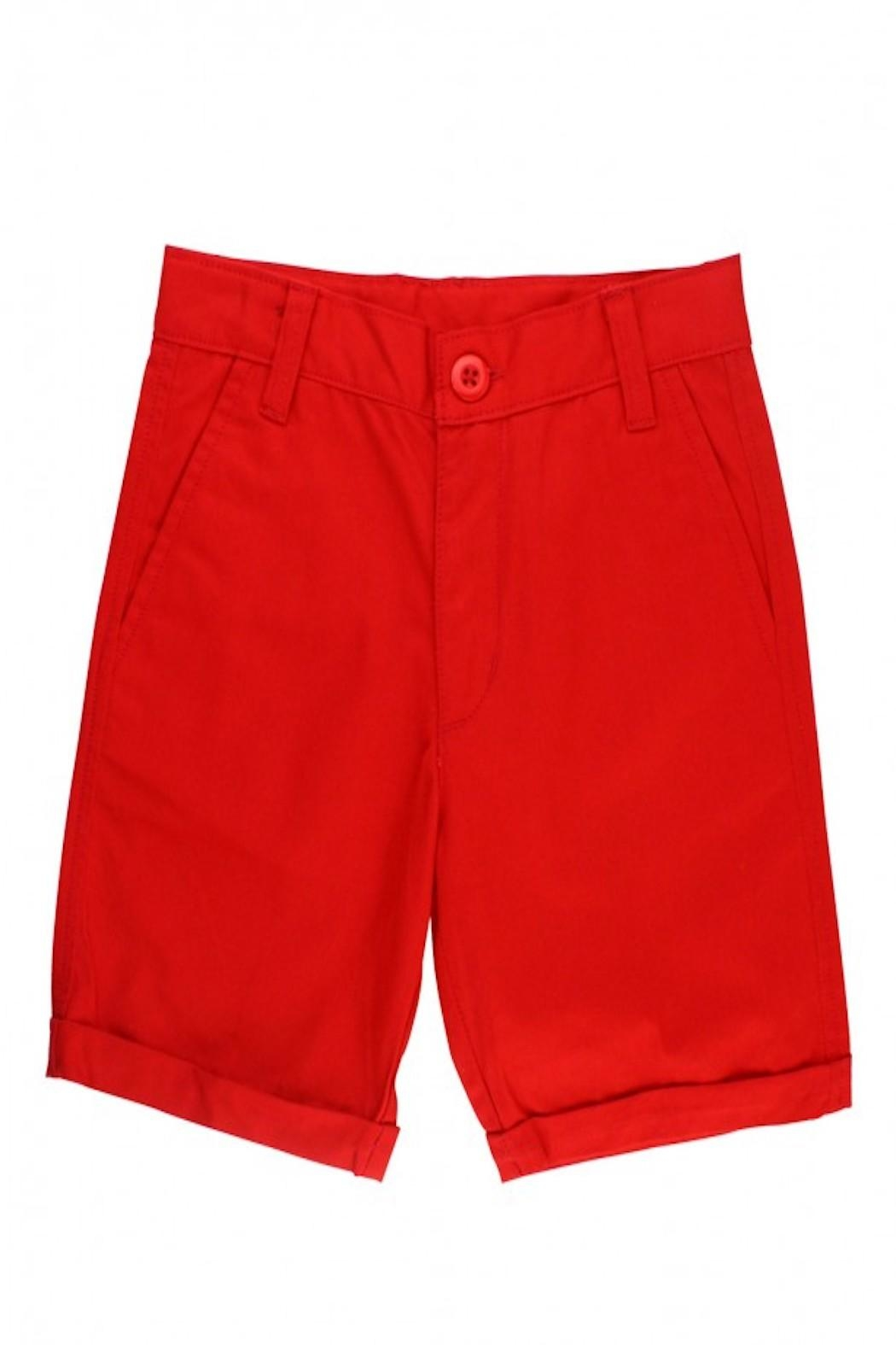 RuggedButts Red Chino Shorts - Front Full Image