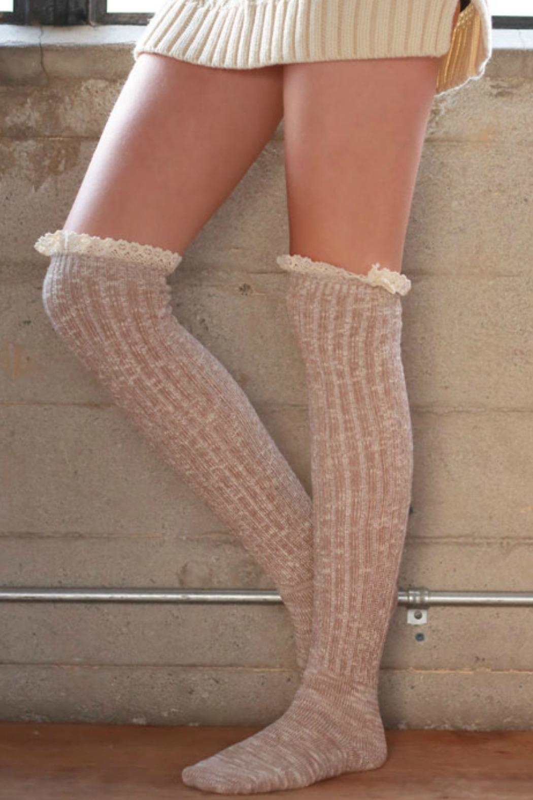 Ruggine Lace Top Sock - Front Cropped Image
