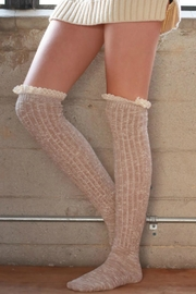 Ruggine Lace Top Sock - Front cropped