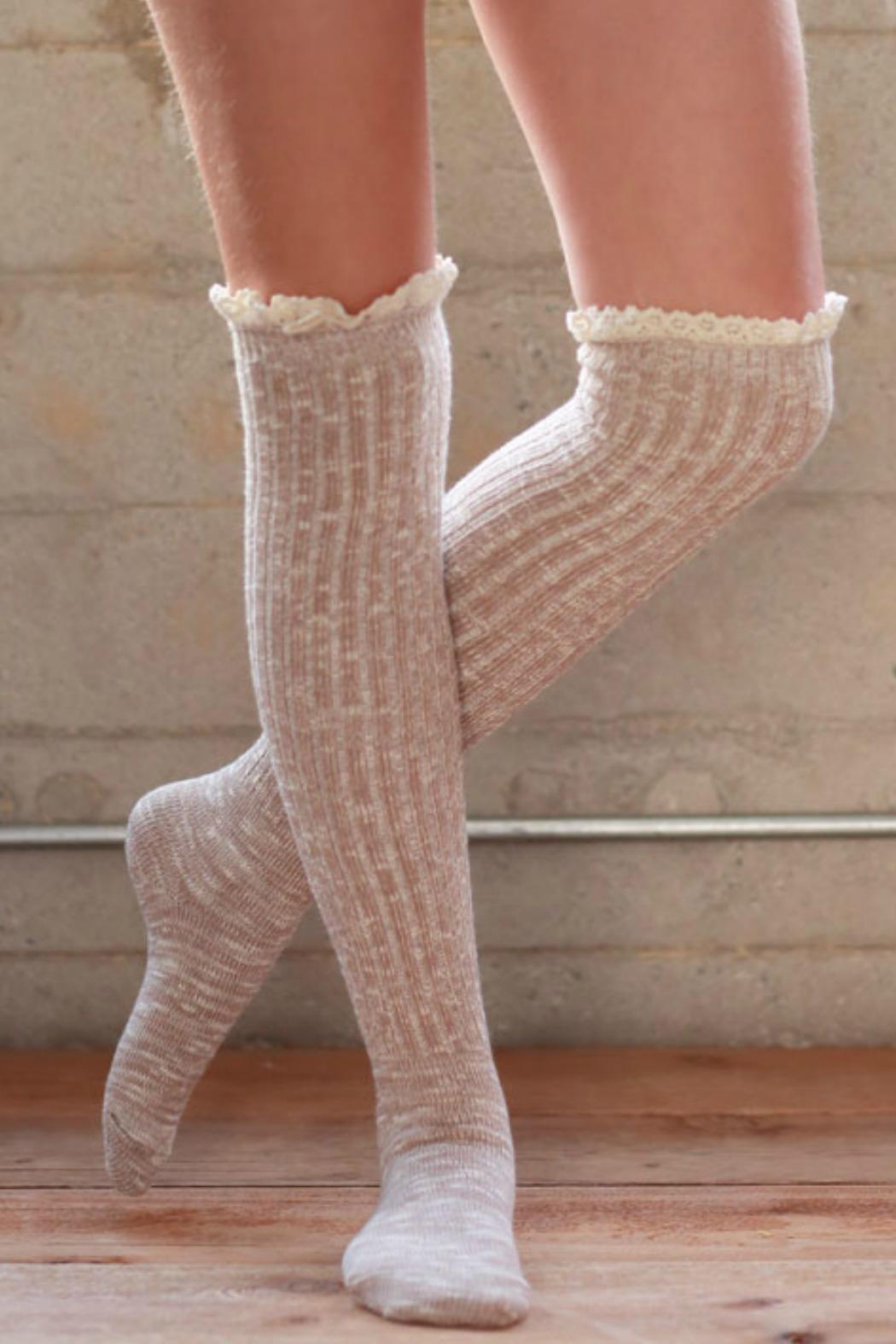 Ruggine Lace Top Sock - Front Full Image