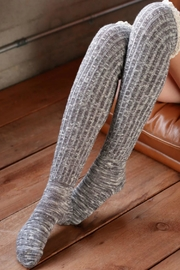 Ruggine Lace Top Sock - Front full body