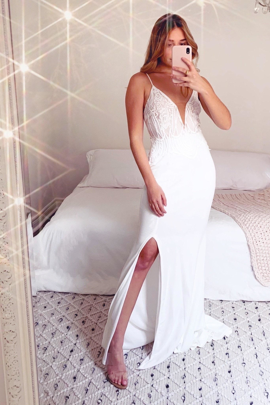 Rumor Sonja Maxi Dress - Front Cropped Image
