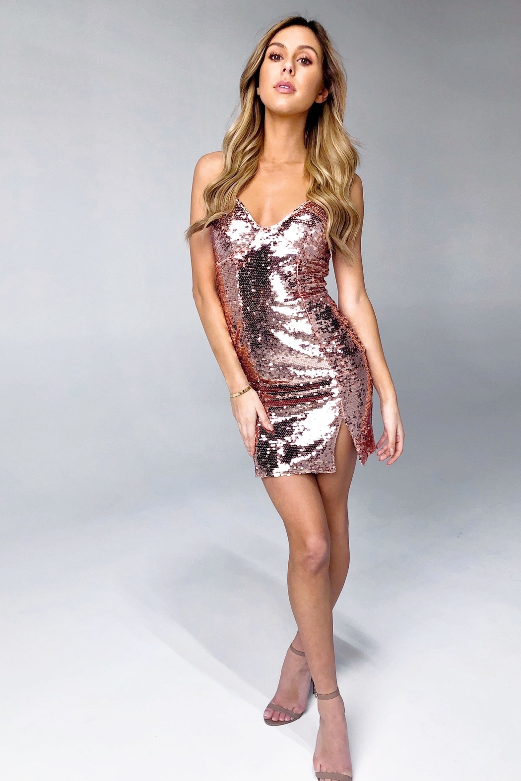 Rumor Vegas Mini Dress - Front Cropped Image