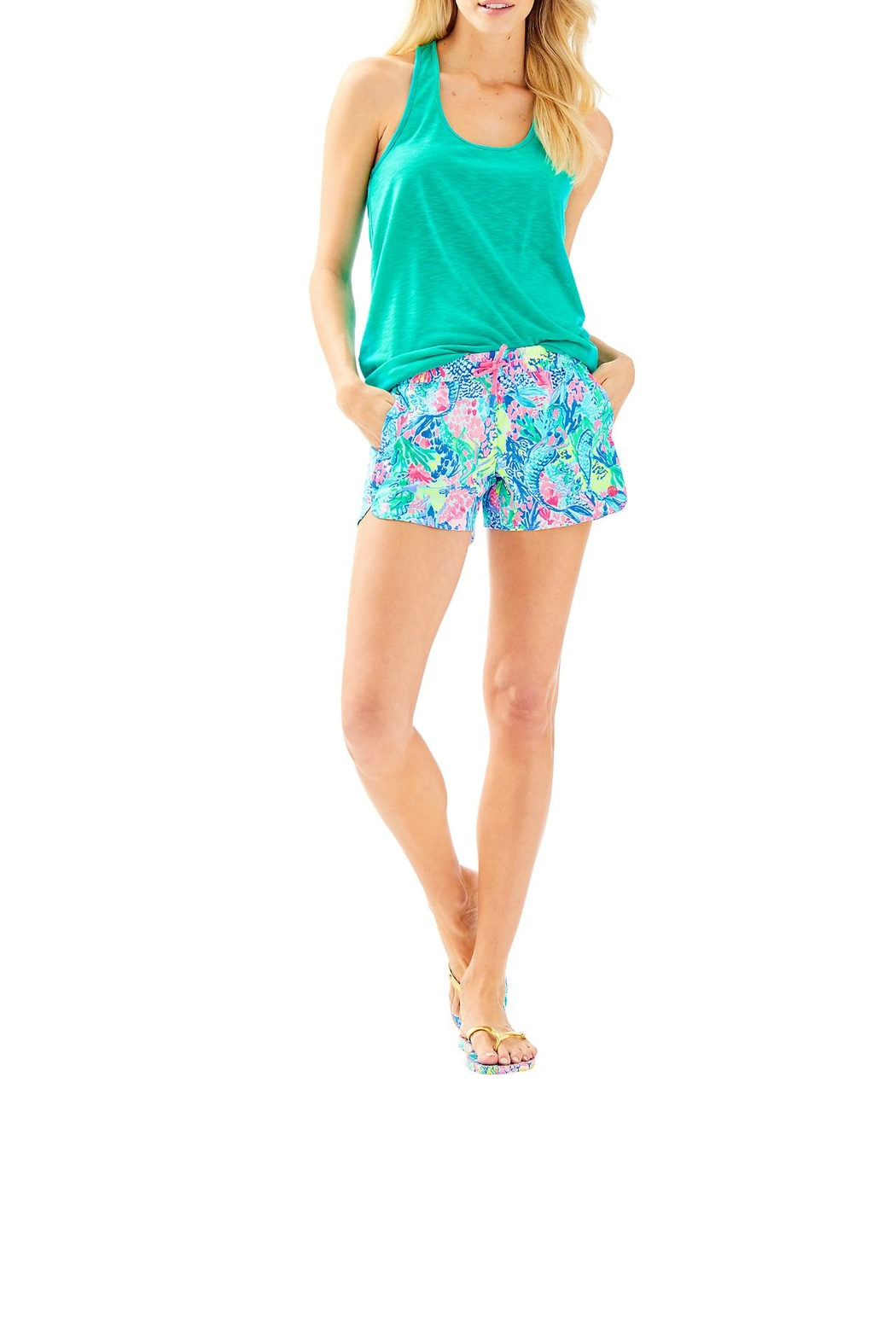 Lilly Pulitzer Run Around Short - Back Cropped Image