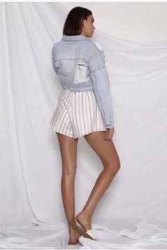 Runaway The Label Lydia Shorts - Beige and White - Alternate List Image