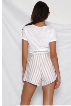 Runaway The Label Lydia Shorts - Beige and White - Product List Image