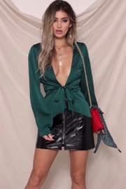 Runaway The Label Minx Tie Top - Emerald - Product Mini Image