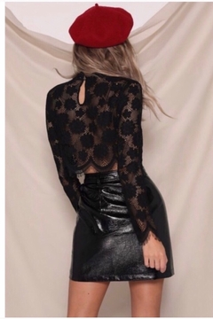 Runaway The Label Panther Faux Leather Skirt - Black - Alternate List Image