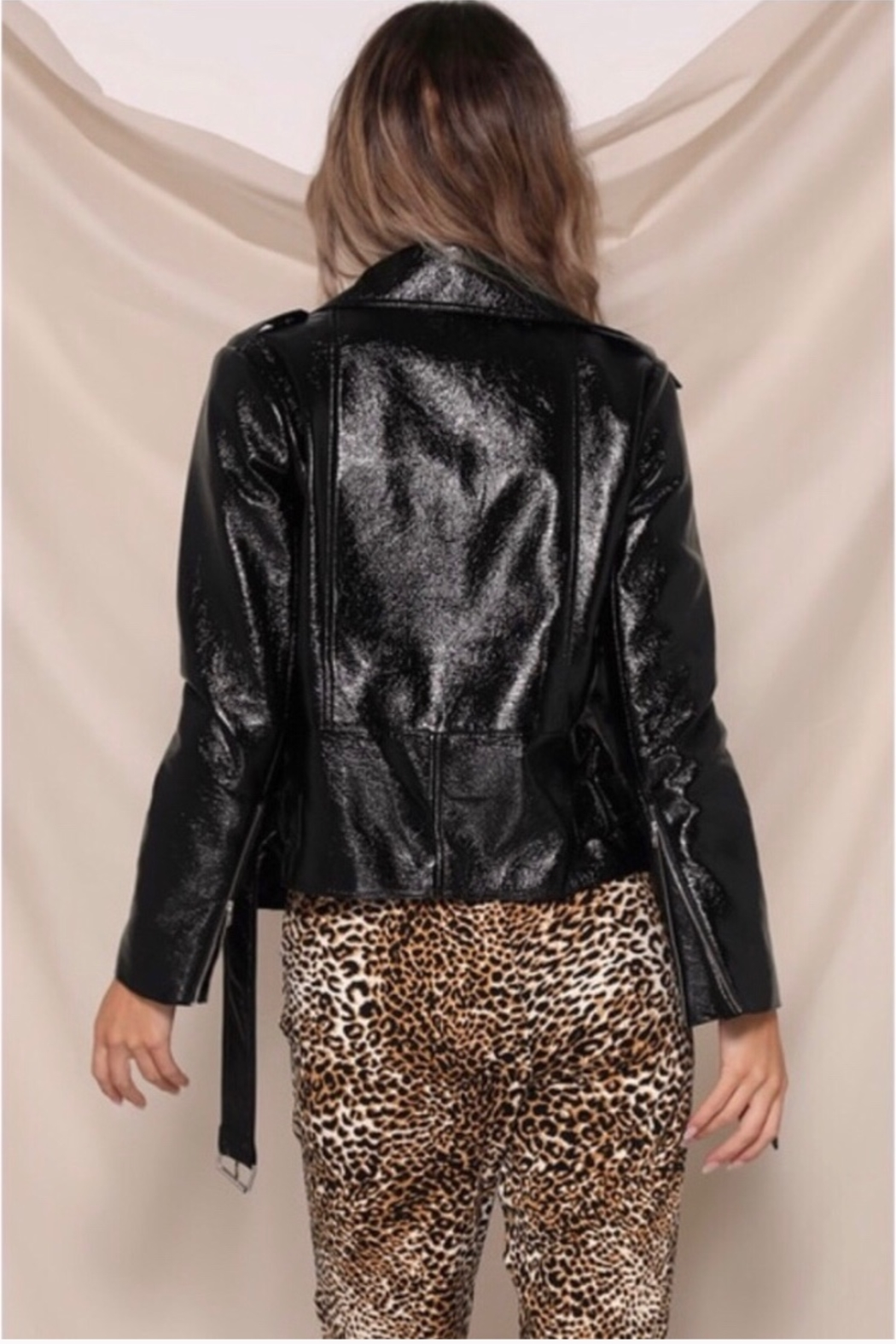 Runaway The Label Panther Jacket - Black - Back Cropped Image