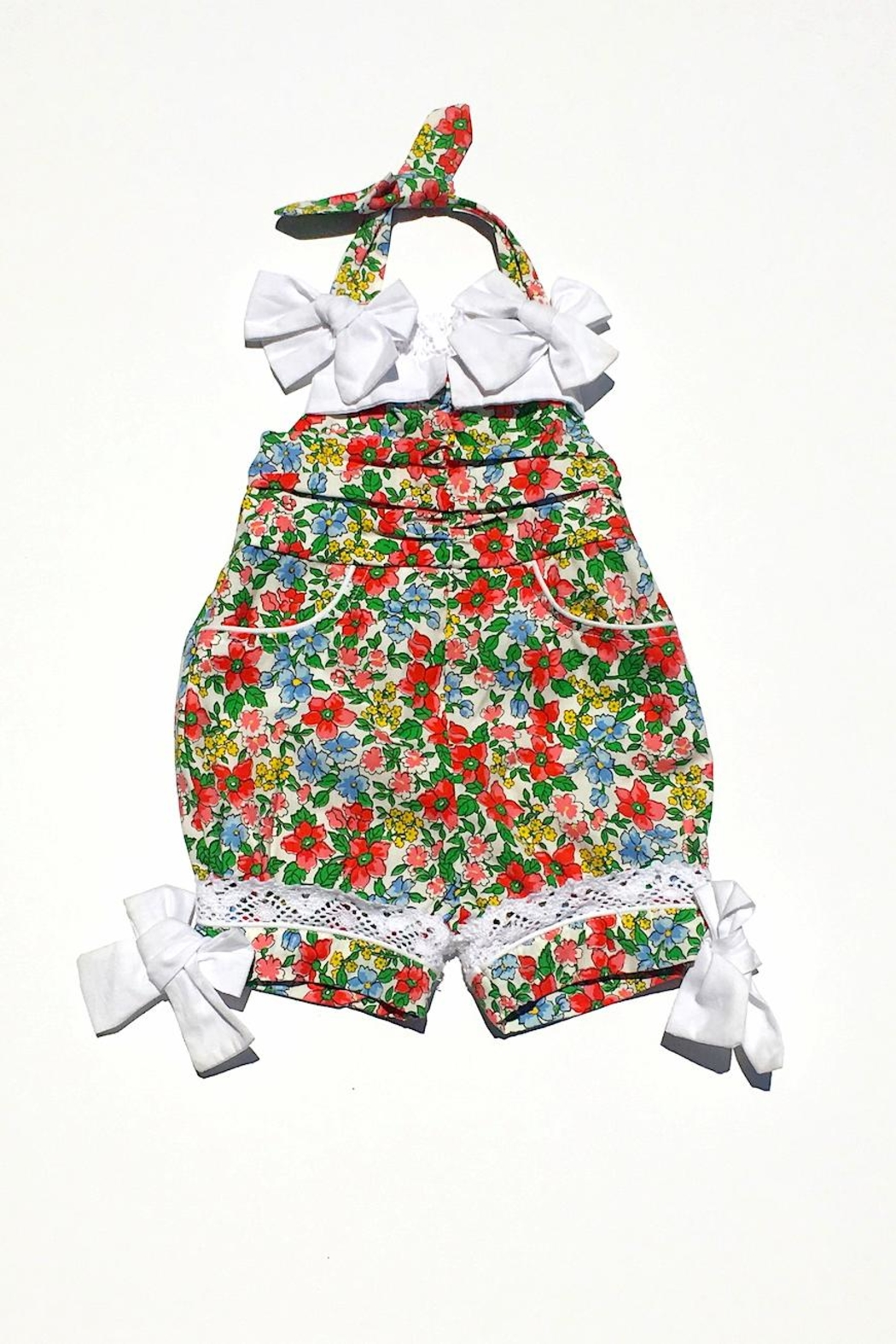 Runaway Pony Floral Bow Romper - Main Image