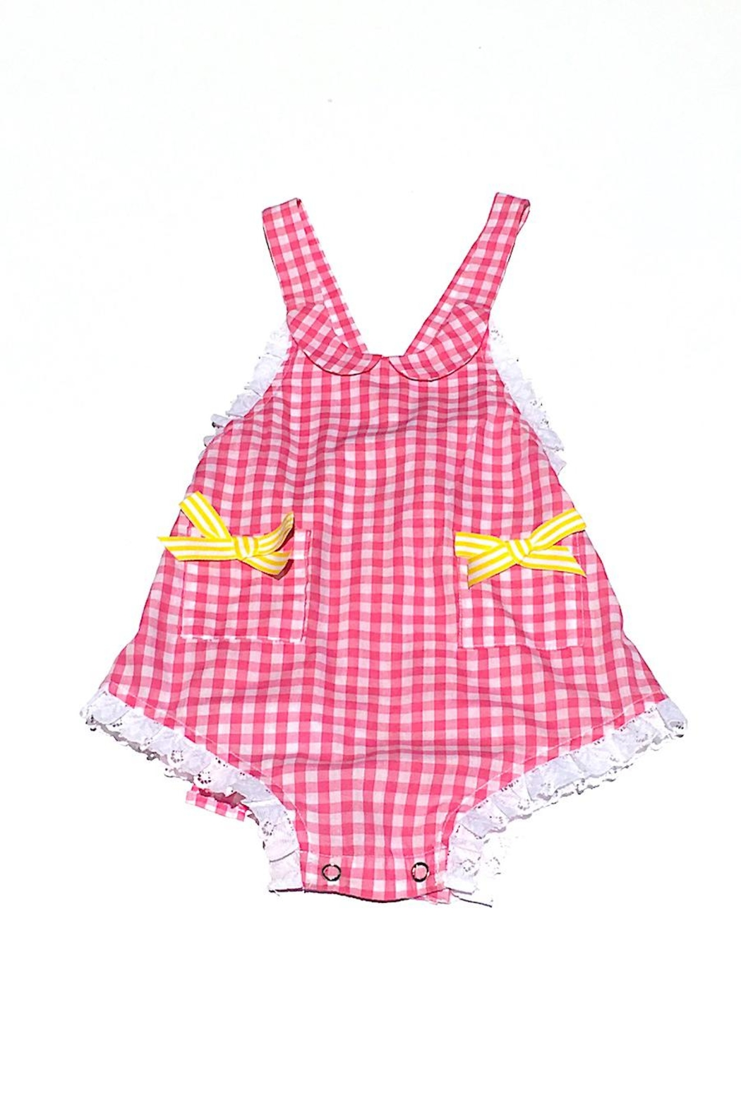 Runaway Pony Gingham Sunsuit - Front Cropped Image