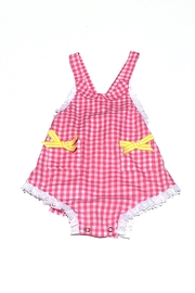 Runaway Pony Gingham Sunsuit - Front cropped