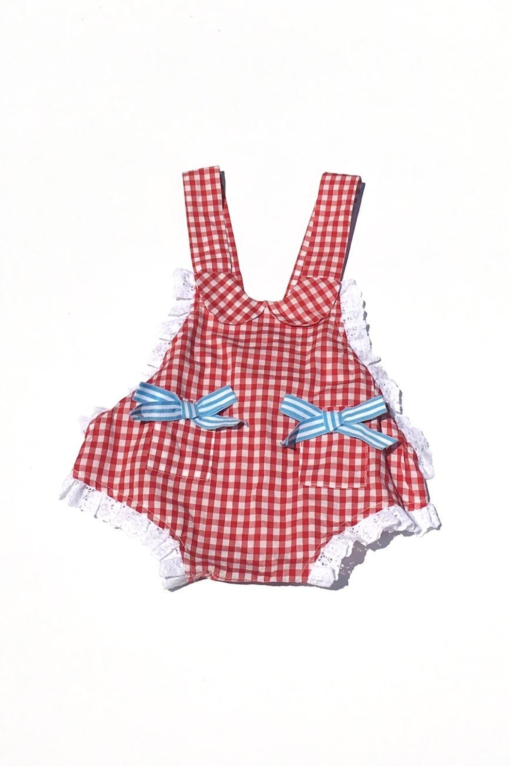 Runaway Pony Gingham Sunsuit - Main Image