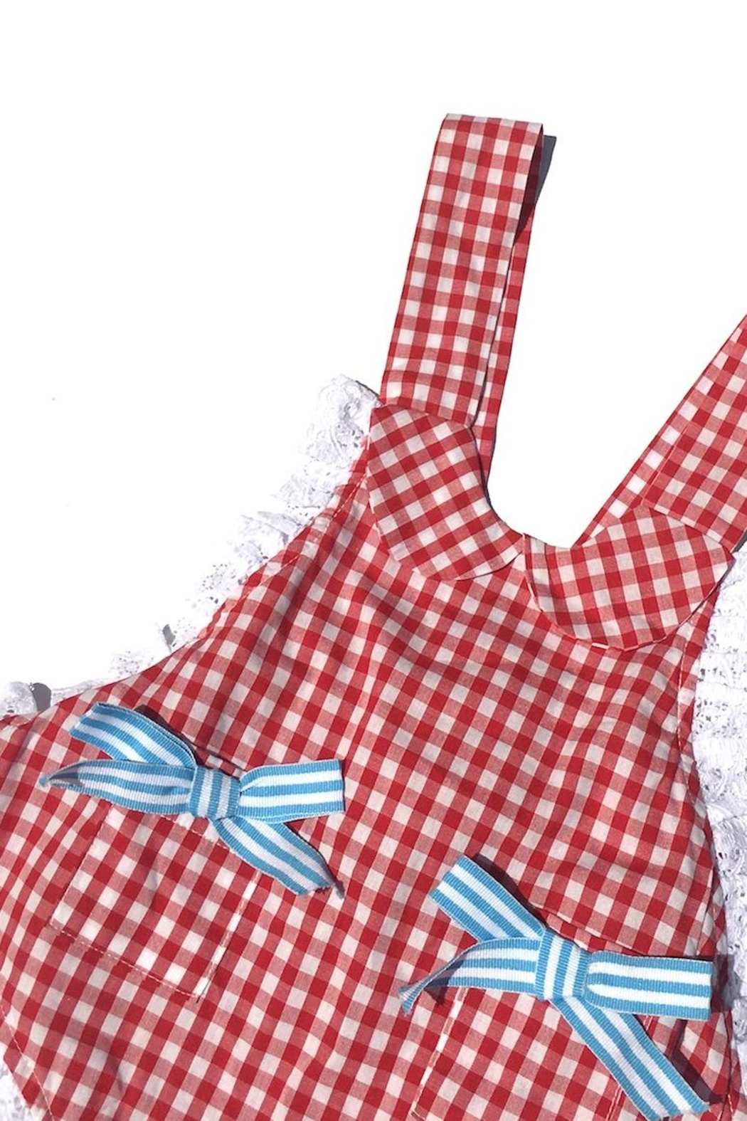 Runaway Pony Gingham Sunsuit - Front Full Image