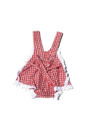 Runaway Pony Gingham Sunsuit - Side cropped