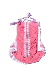 Runaway Pony Ribbon Detailed Sunsuit - Front cropped
