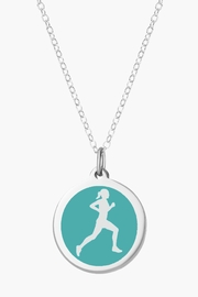 Auburn Jewelry Runner Silver Pendant - Original - Product Mini Image