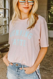 Friday + Saturday Running Latte Graphic Tee - Front cropped
