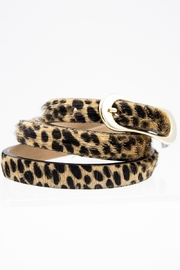 Streets Ahead Running Raged Cheetah Print Belt - Product Mini Image