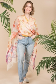 Saachi Running Wild Floral Ruana - Front cropped