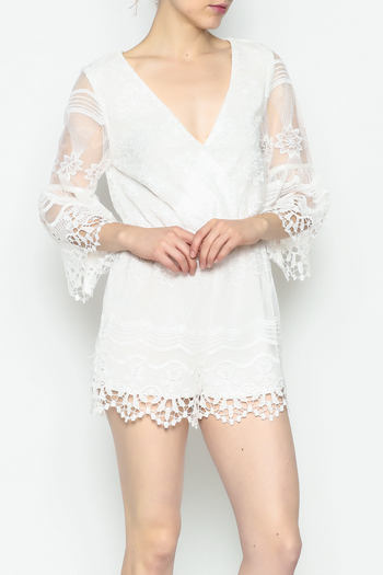 Runway & Rose Floral Embroidered Romper - Main Image