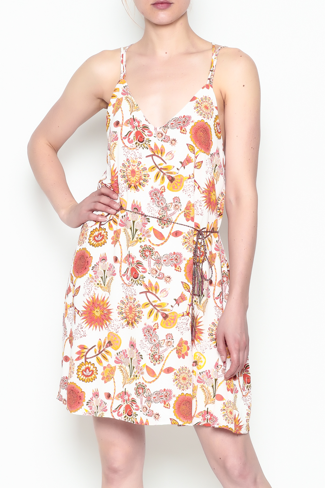 Runway & Rose Floral Print Dress - Side Cropped Image