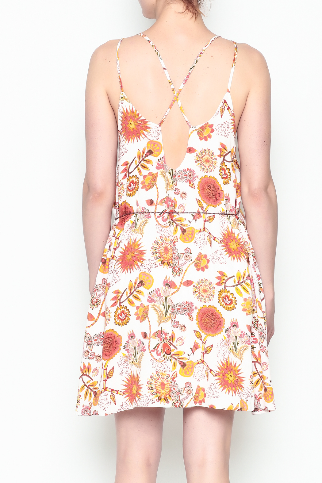 Runway & Rose Floral Print Dress - Back Cropped Image