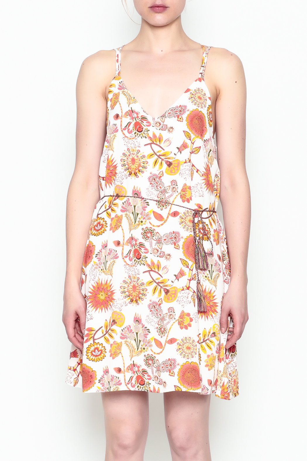 Runway & Rose Floral Print Dress - Front Cropped Image