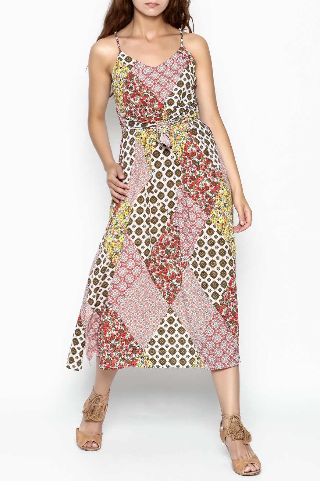 Runway & Rose Patchwork Print Dress - Front Cropped Image