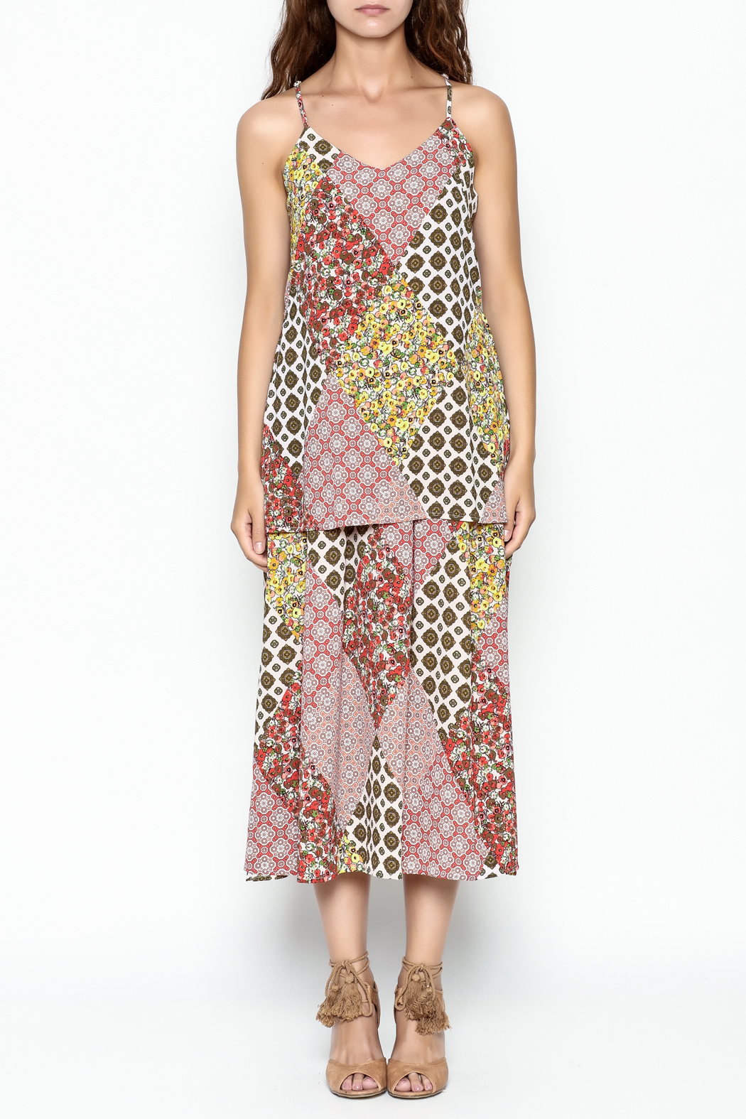 Runway & Rose Patchwork Print Dress - Front Full Image