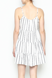Runway & Rose Striped Embroidered Dress - Back cropped