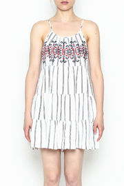 Runway & Rose Striped Embroidered Dress - Front cropped