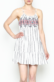 Runway & Rose Striped Embroidered Dress - Side cropped