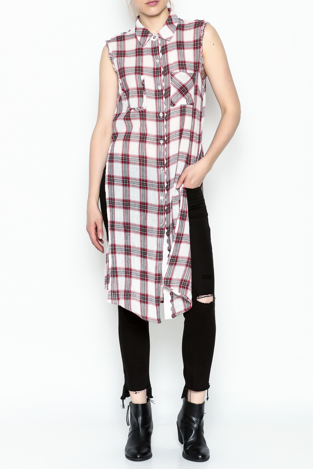Runway & Rose Tank Flannel Top - Main Image